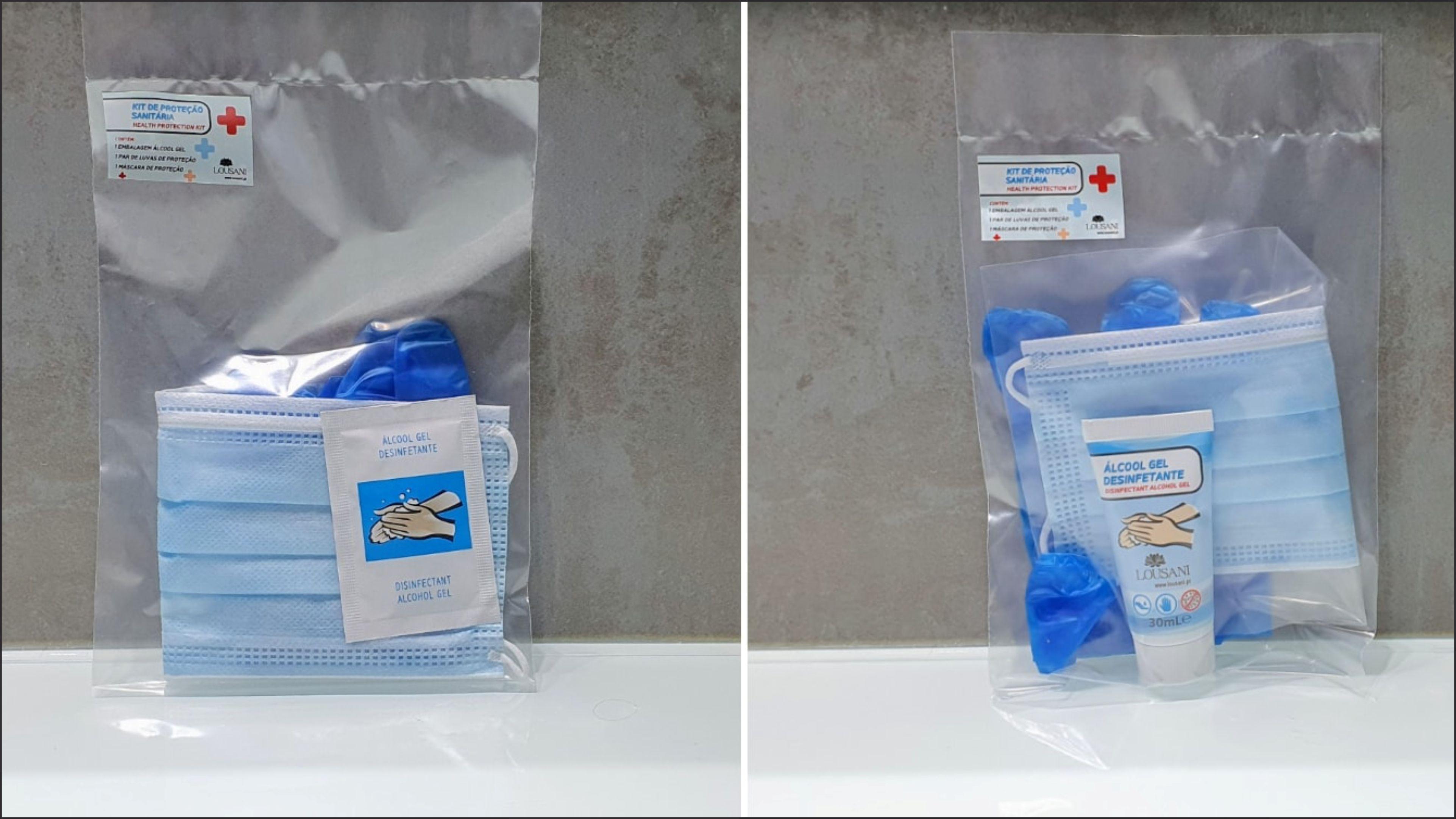 Kit de Proteção Sanitária Plástico