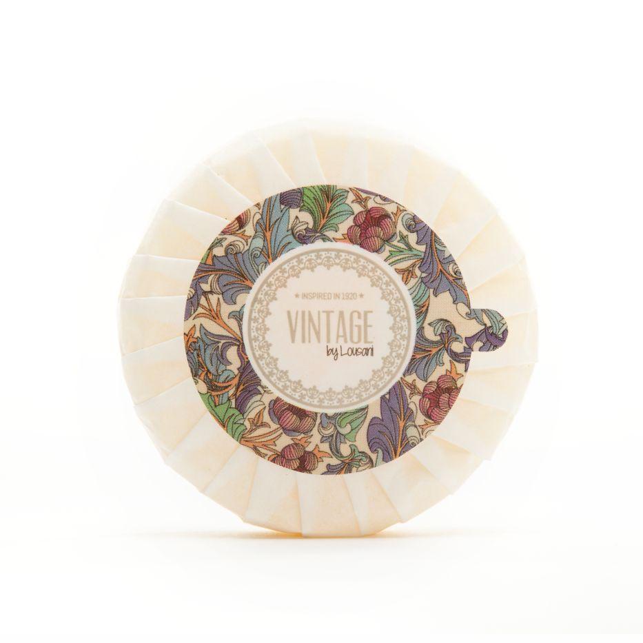 Round soap (white) 40 grs - Vintage Line
