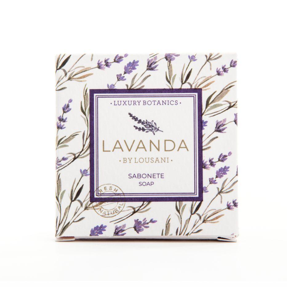 Square soap 20 grs in carolina box - Lavender Line