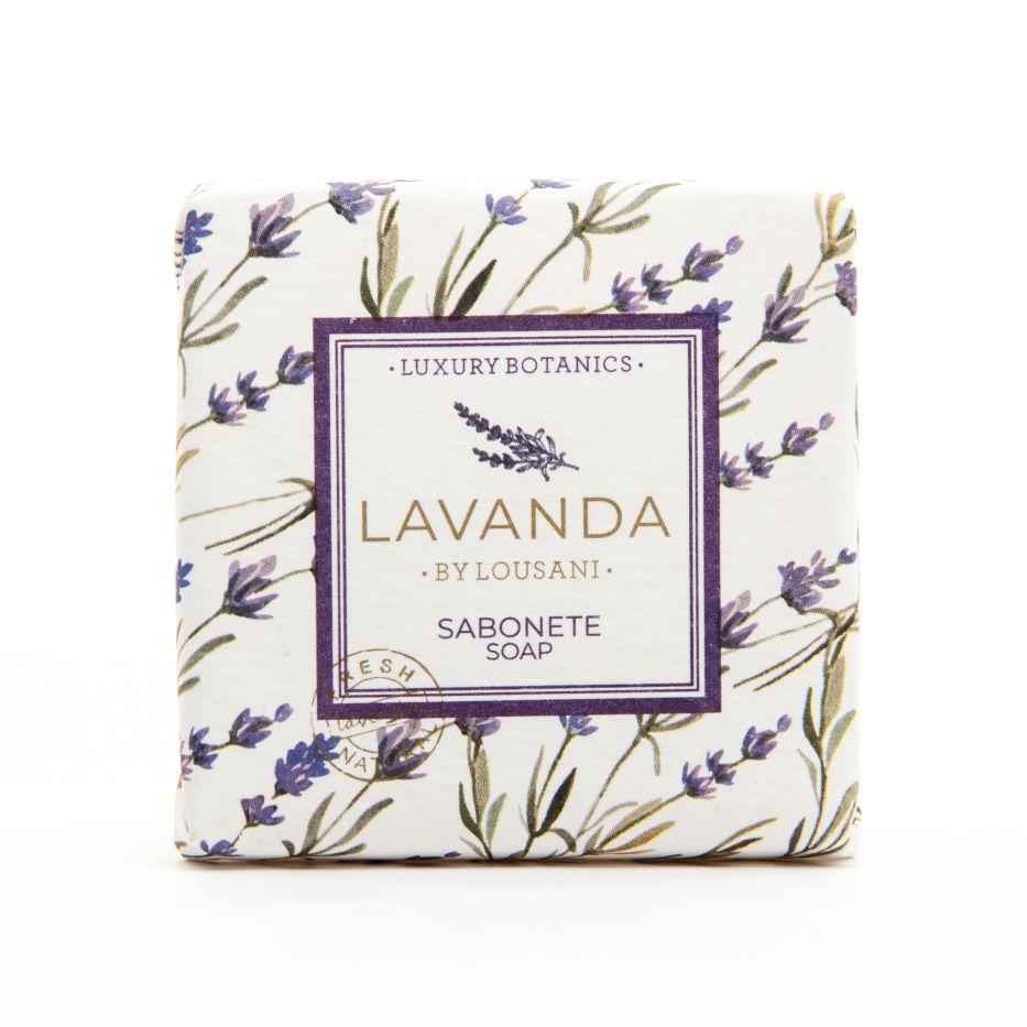 Square soap 20 grs paper label - Lavender Line